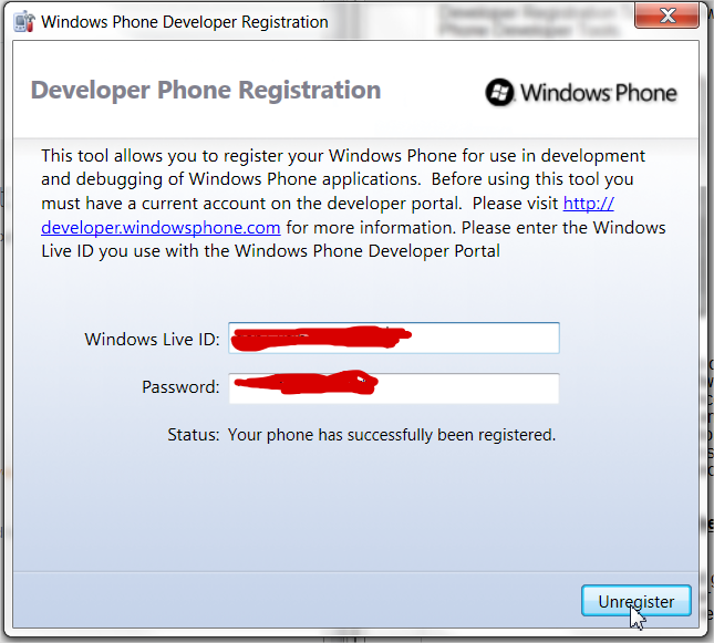 Developer Phone Registration