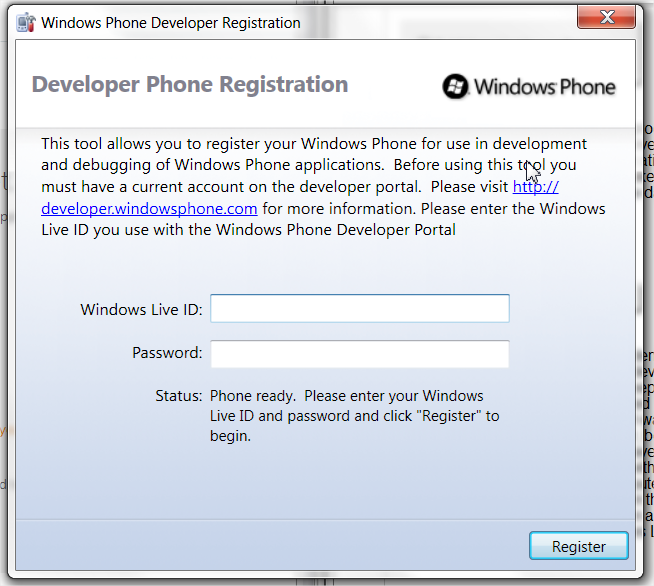Developer Phone Registration 2