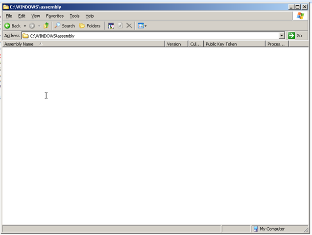Empty GAC in Windows Explorer