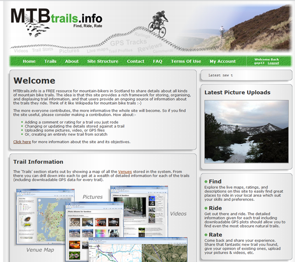 MTB Trails Info Website