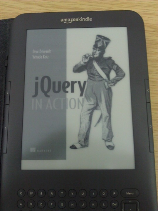 Showing book on Kindle