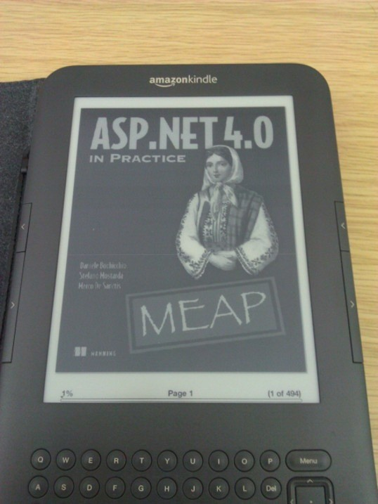 Showing another book on Kindle