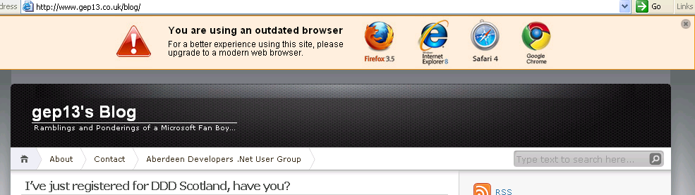 IE6 No More Toolbar
