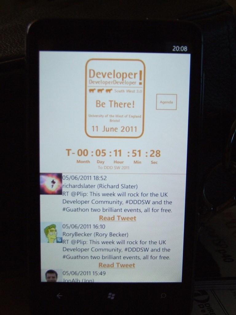 DDDSW Windows Phone Application