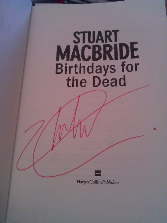 Signed Stuart MacBride Book