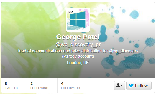 George Patel Twitter Account
