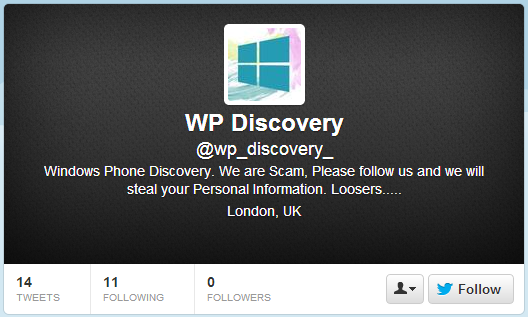 WP Discovery Twitter Account