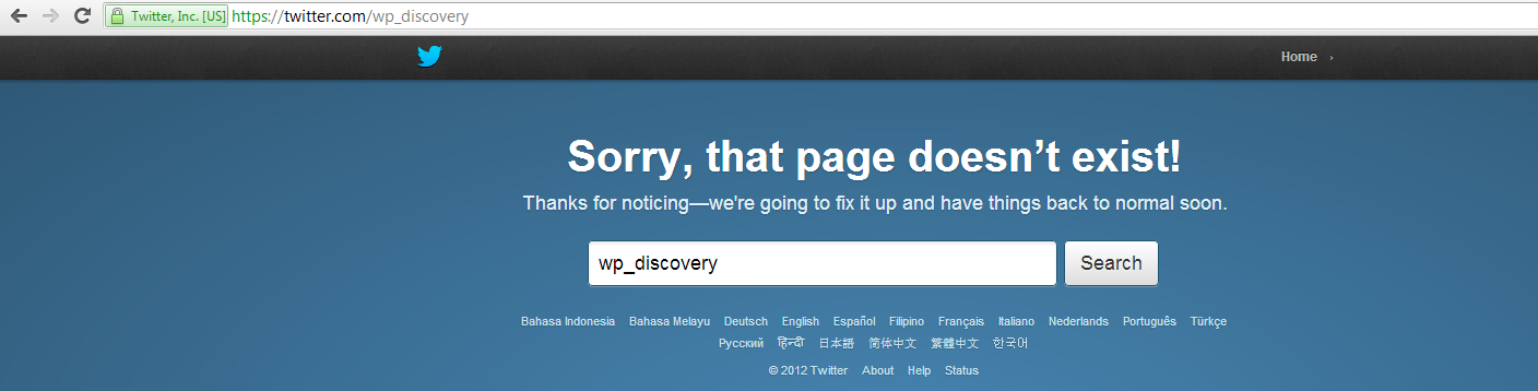 Twitter Account Closed down