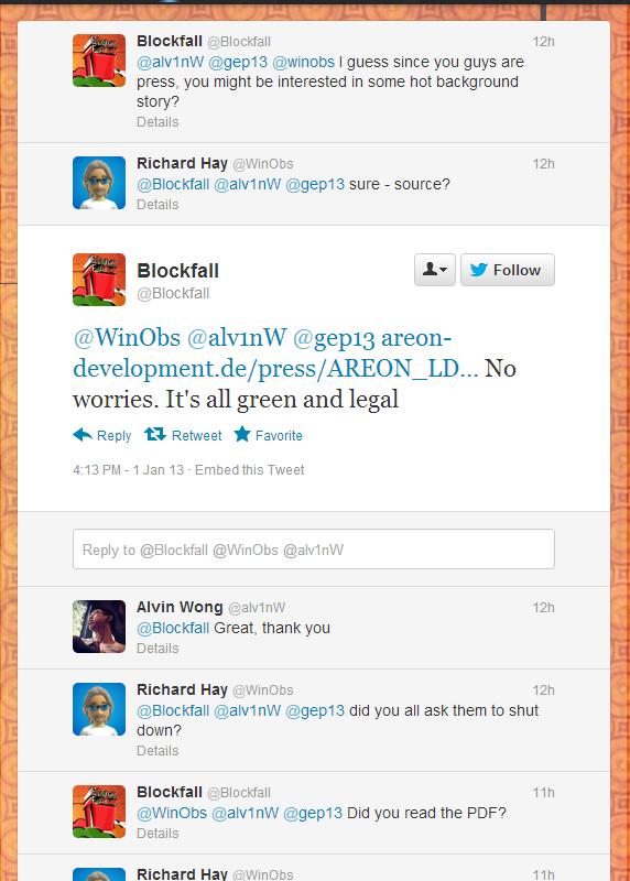 Blockfall Conversation