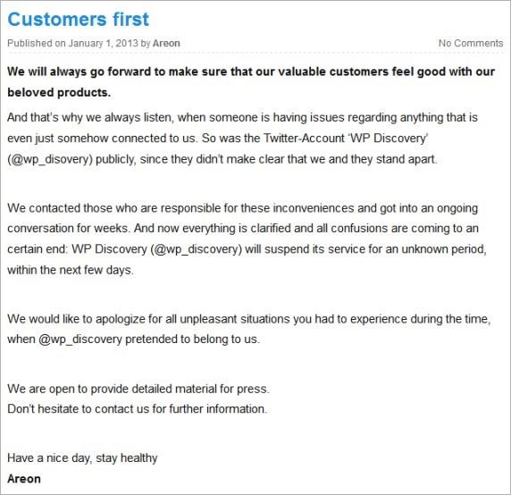 Customers First Original