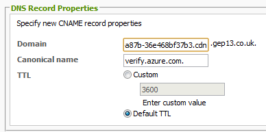 Add Verify Domain to Registrar