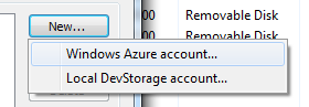 New Windows Azure Account
