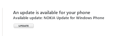 Update for Windows Phone 7 Available