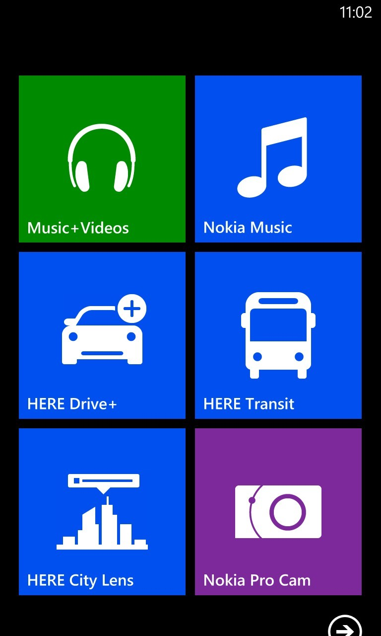 Nokia Lumia 920 Start Screen