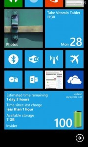 Insider Application running on Nokia Lumia 925