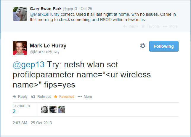 Twitter Help from Mark Le Huray