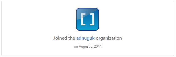 adnuguk GitHub Organisation