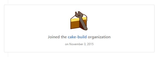 Cake Organisation on GitHub