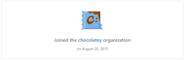 Chocolatey Organisation on GitHub