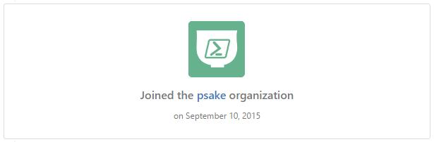 psake organisation on GitHub