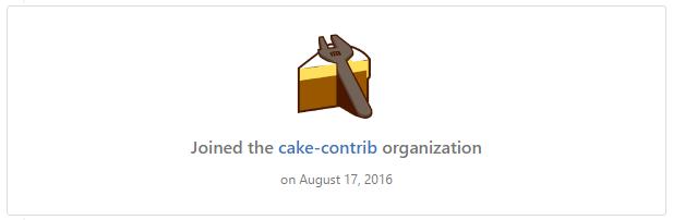 Cake-Contrib Organisation on GitHub