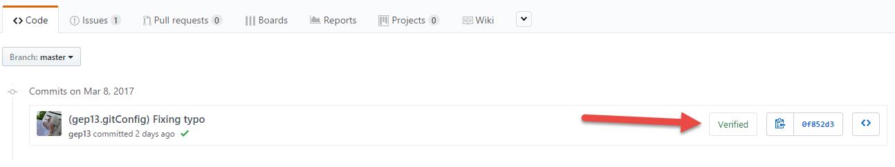Verified GitHub Commit