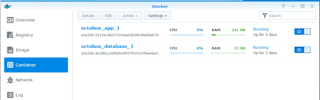Completed Docker Containers