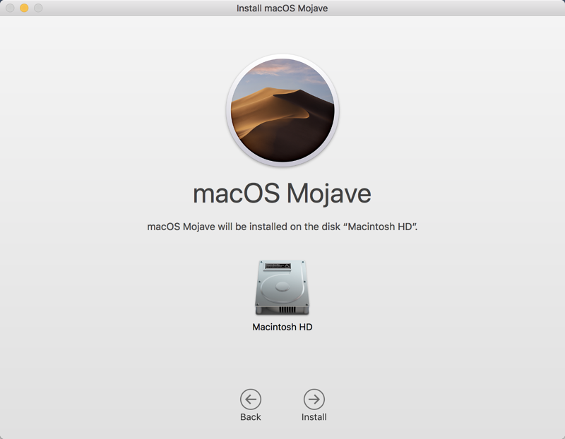 Install Mojave