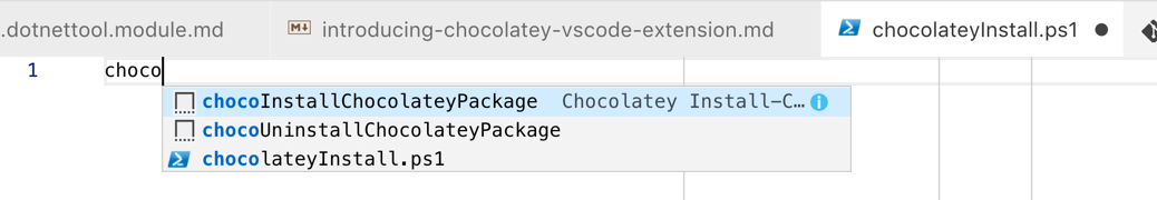 Chocolatey Snippets