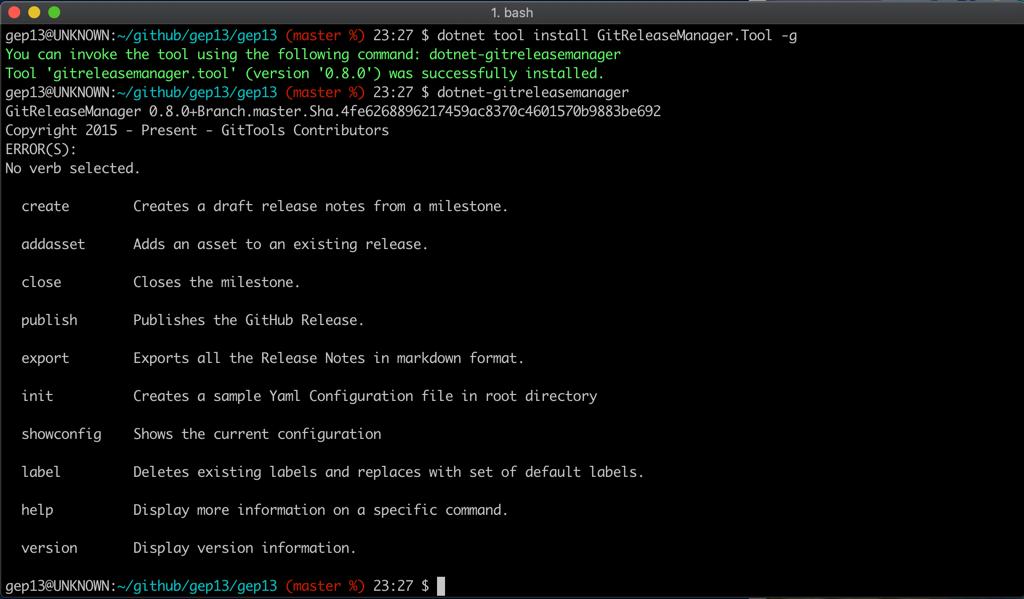 GitReleaseManager Mac Install